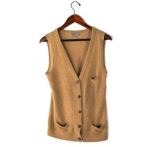 James Perse vest cardigan knit cashmere sleeveless
